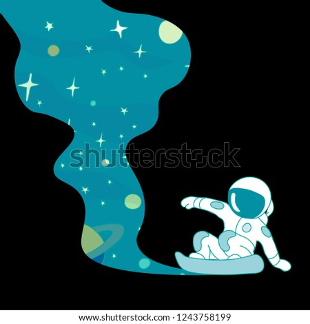 astronaut rushes across the