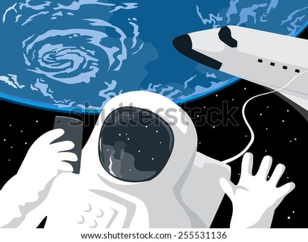 Stock Photo Astronaut Selfie