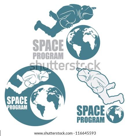 astronaut sign   vector symbol