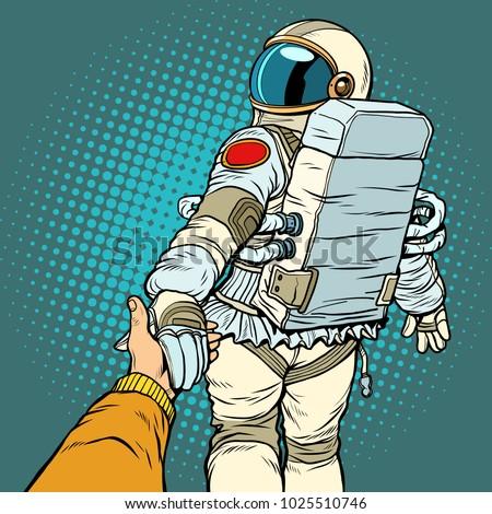 astronaut space travel follow