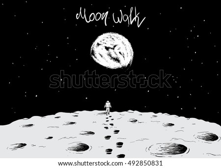 astronaut walking on surface of