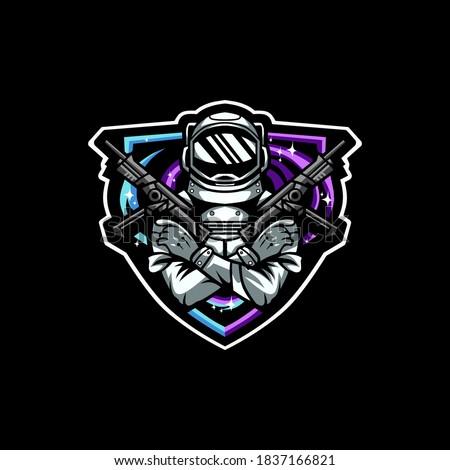 astronaut war e sport logo
