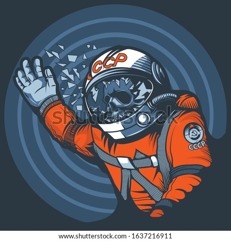 astronaut with a broken glass