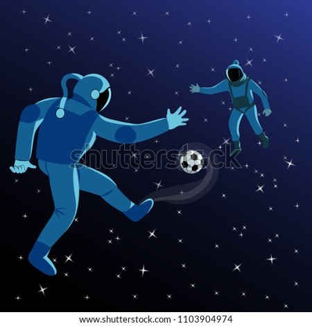 astronauts play football in space