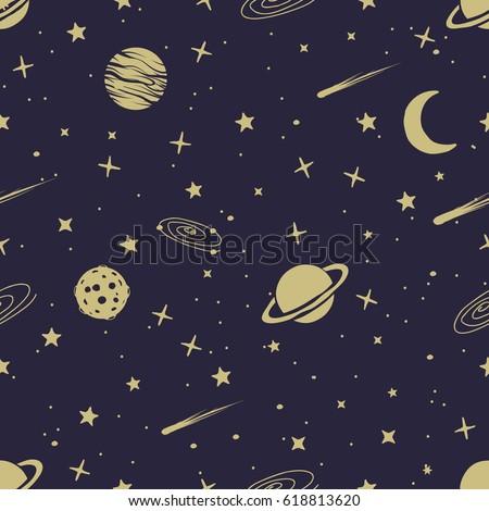 astronomic seamless pattern