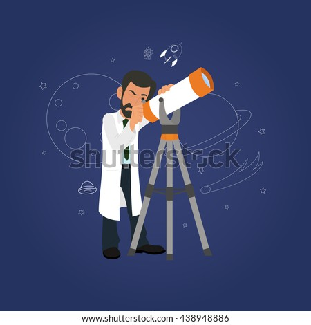 astronomy concept scientist