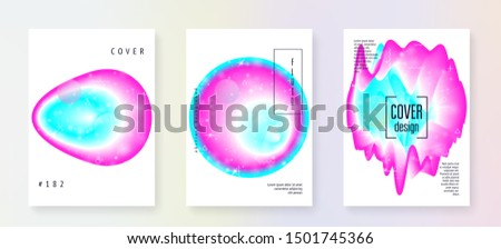 Astronomy flyer. 3d magic dreamer unicorn sparkles. Holographic gradients. Galactic science cover set with planets, sun, deep fluid light. Astronomy flyer with galaxy shapes and star dust.