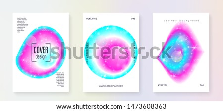 Astronomy flyer. Modern science banner set with planets, sun, deep fluid light. 3d magic dreamer unicorn sparkles. Holographic gradients. Astronomy flyer with galaxy shapes and star dust.