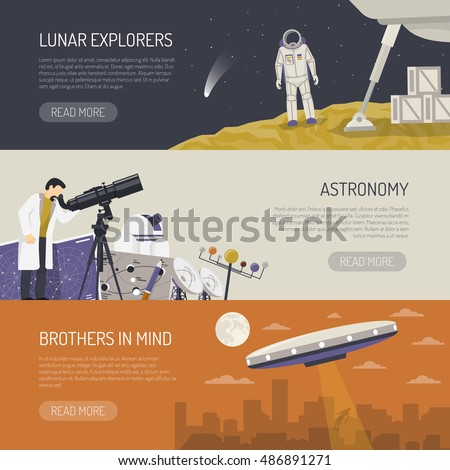 astronomy horizontal banners