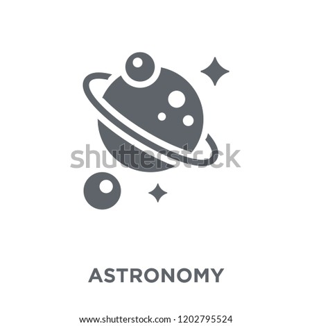Astronomy icon. Astronomy design concept from Astronomy collection. Simple element vector illustration on white background.