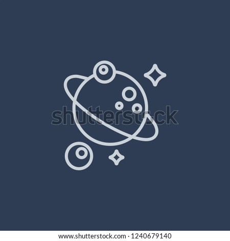 Astronomy icon. Astronomy linear design concept from Astronomy collection. Simple element vector illustration on dark blue background.