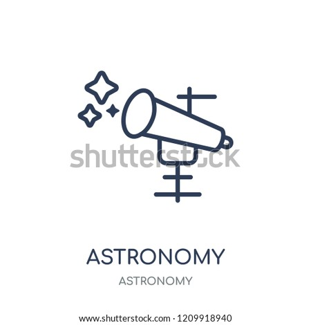 Astronomy icon. Astronomy linear symbol design from Astronomy collection.