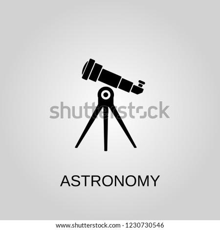 Astronomy icon. Astronomy symbol. Flat design. Stock - Vector illustration