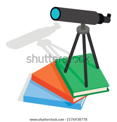 Astronomy icon. Isometric illustration of astronomy vector icon for web