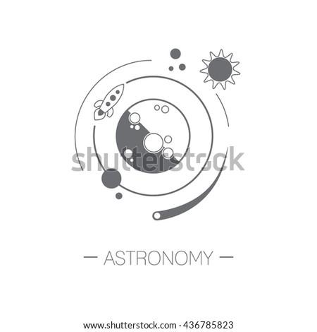 astronomy icon planet  sun