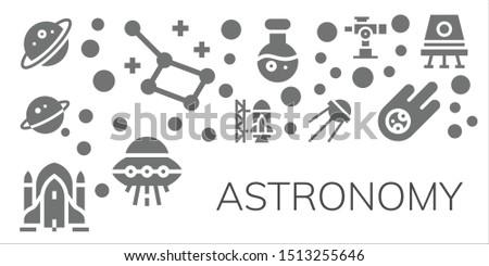 astronomy icon set 11 filled