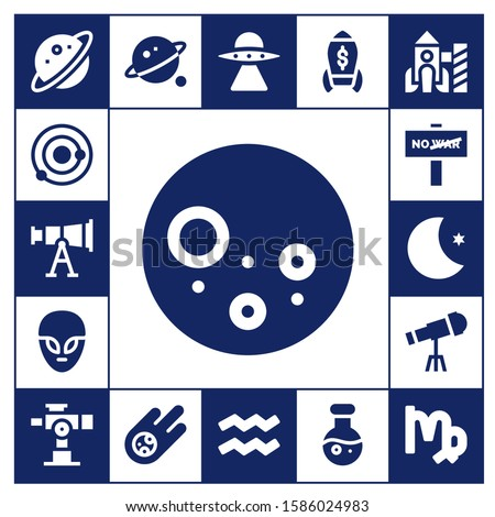 astronomy icon set 17 filled