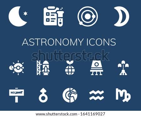 astronomy icon set 14 filled