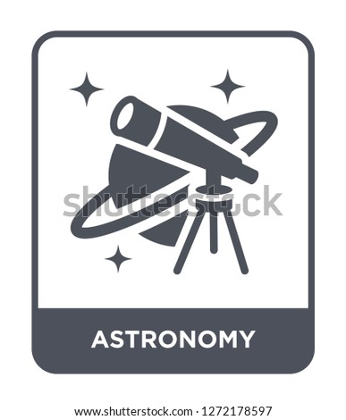 astronomy icon vector on white background, astronomy trendy filled icons from Astronomy collection, astronomy simple element illustration