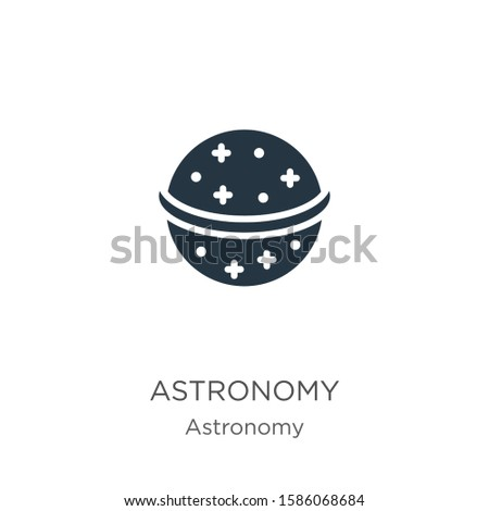 Astronomy icon vector. Trendy flat astronomy icon from astronomy collection isolated on white background. Vector illustration can be used for web and mobile graphic design, logo, eps10