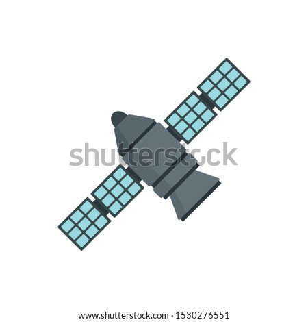 Astronomy space station icon. Flat illustration of astronomy space station vector icon for web design