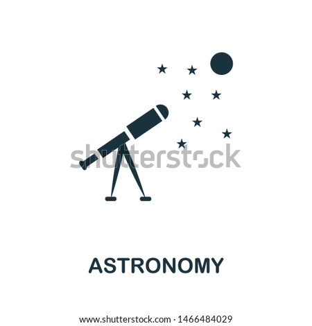 Astronomy vector icon illustration. Creative sign from science icons collection. Filled flat Astronomy icon for computer and mobile. Symbol, logo vector graphics.