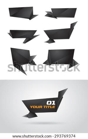 asymmetric black vector text