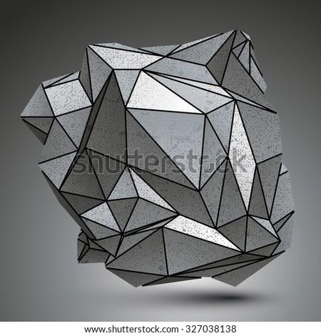 asymmetric galvanized 3d object