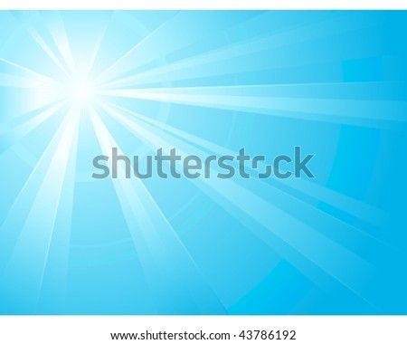 asymmetric light burst with the