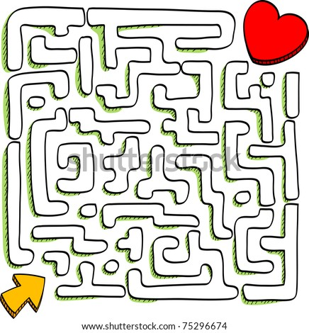 At the end of the maze is love, vector