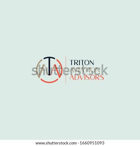 ATA logo design round TAA AAT circle Stok fotoğraf ©