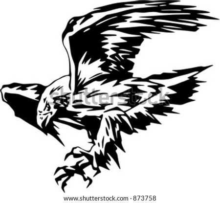 Atacking Eagle - vehicle graphic. Ready for vinyl cutting. Check my portfolio for many more images.