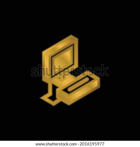 atari gold plated metalic icon