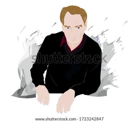 atatürk mustafa kemal portresi, vektör Stok fotoğraf ©