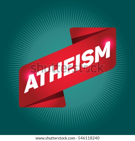 atheism arrow tag sign