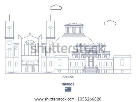 athens linear city skyline