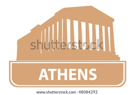 Athens outline. Vector illustration