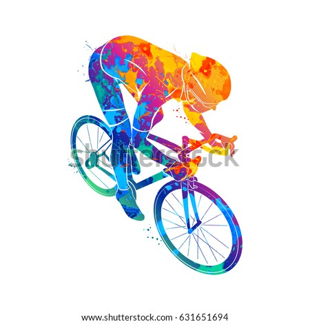 Athlete bike cyclist