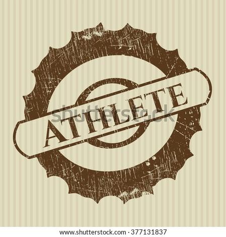 Athlete grunge stamp