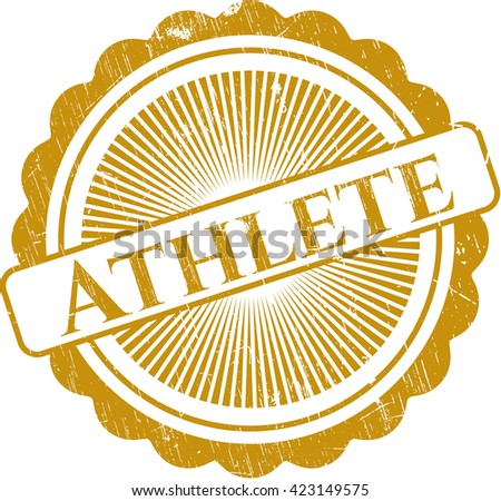 Athlete rubber grunge texture seal