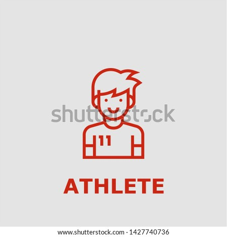 Athlete symbol. Outline athlete icon. Athlete vector illustration for graphic art.