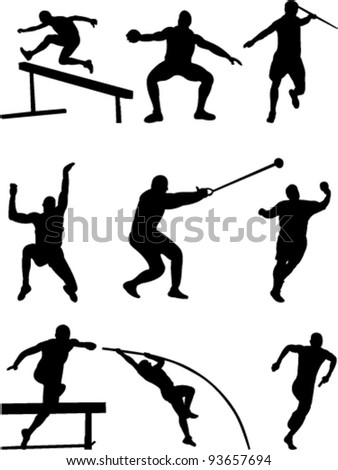 athletic collection vector