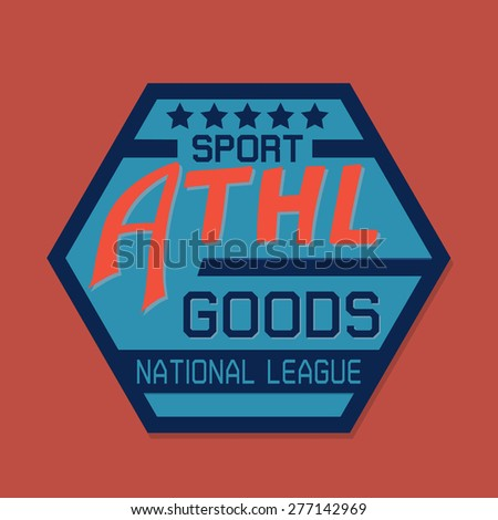 Athletic goods typographic for t-shirt,tee graphic