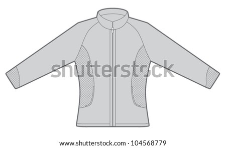 Athletic Jacket Template
