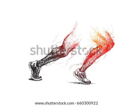 athletic legs   sport and