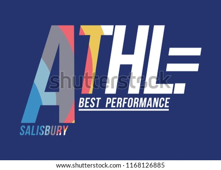athletic performance for t-shirt print