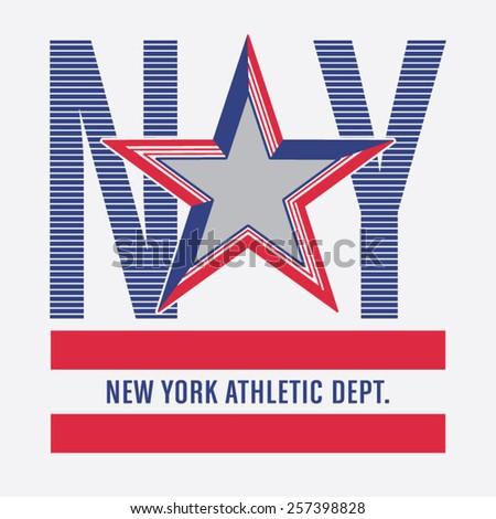 Athletic sport america typography t-shirt graphics vectors