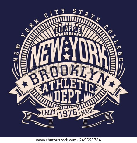 athletic sport nyc typography