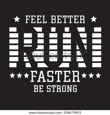 athletic sport run typography