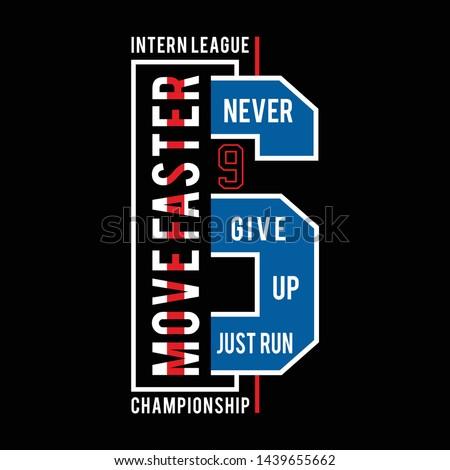 Athletic sport typography, tee shirt graphics,vectors - Vector